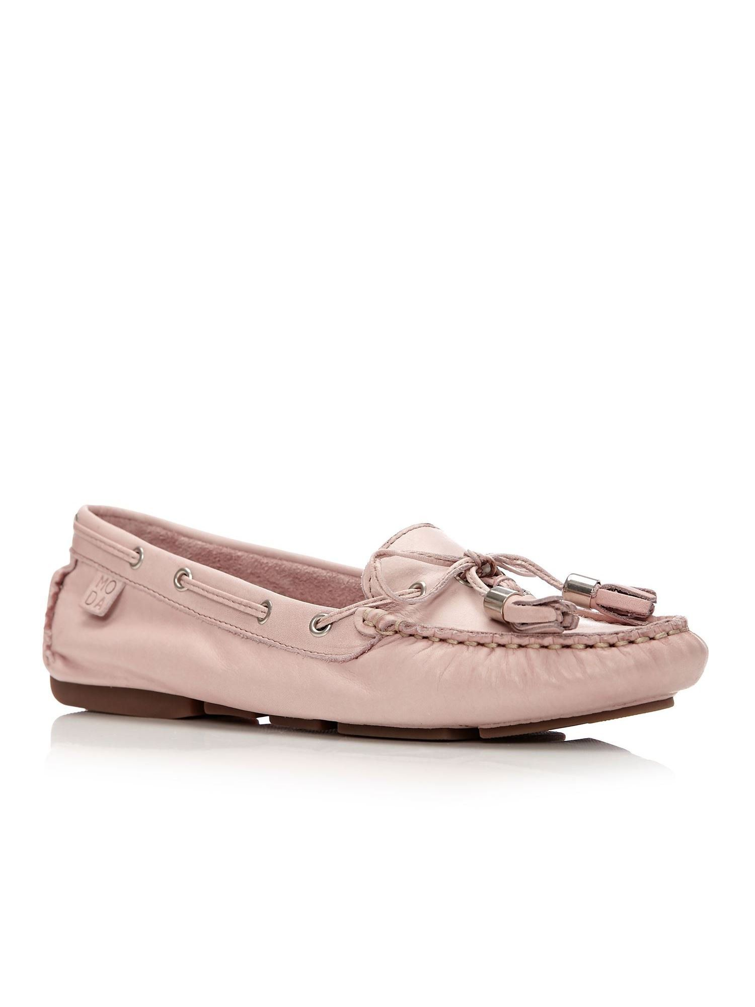 Moda in Pelle Alidia Flat Casual Shoes, Light Pink