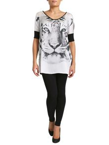 Tiger Face Print Top