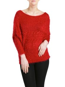 Pussycat Sequin & Eyelash Soft Jumper