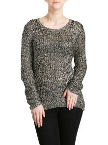 Gold & Black Sequin Knit Jumper