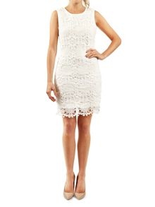 Pussycat Sleeve crochet bodycon dress
