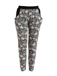 Pussycat Palm print trousers