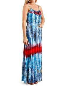 Pussycat Frill Neck maxi dress