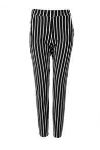 Stripped textured trousers