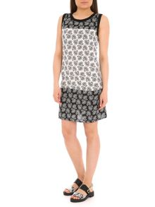 Pussycat Paisley print in contrast shift dress