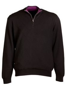 Links Lined Plain Half Zip Jumper