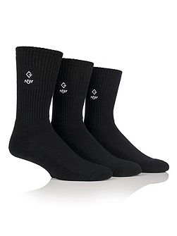 3 Pack Plain Sports Socks