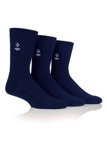Glenmuir 3 Pack Plain Sports Socks
