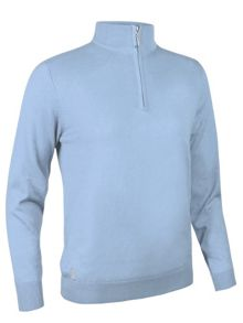 Glenmuir Cotton cashmere zip neck sweater