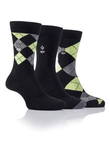 Glenmuir 3 Argyle Sock Pack