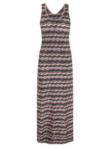 Mela Loves London Zig Zag Chevron Print Maxi Dress