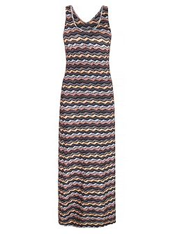 Zig Zag Chevron Print Maxi Dress