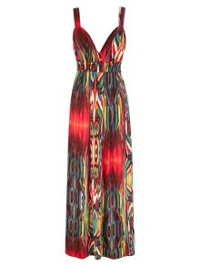 Mela London Colour Splash Print Maxi Dress