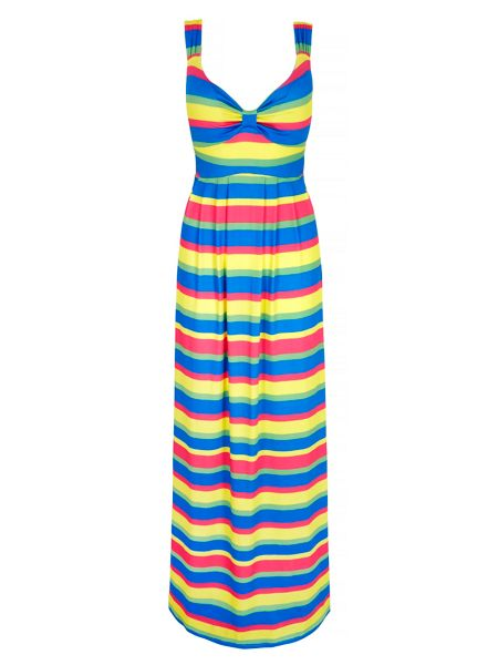 Mela London Candy Stripe Print Maxi Dress