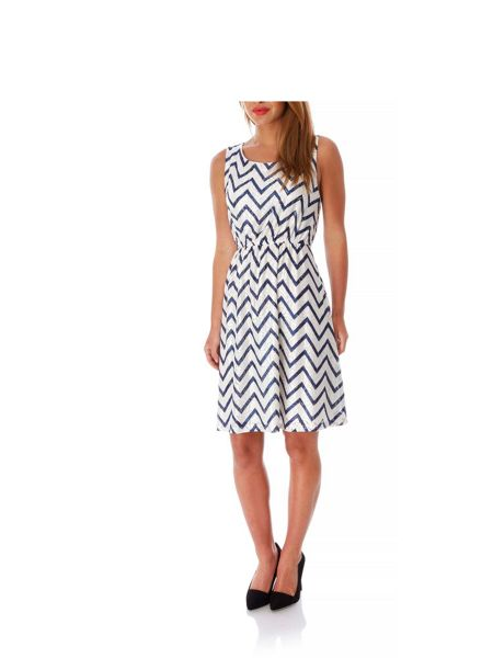 Mela London Zig Zag Print Lace Dress