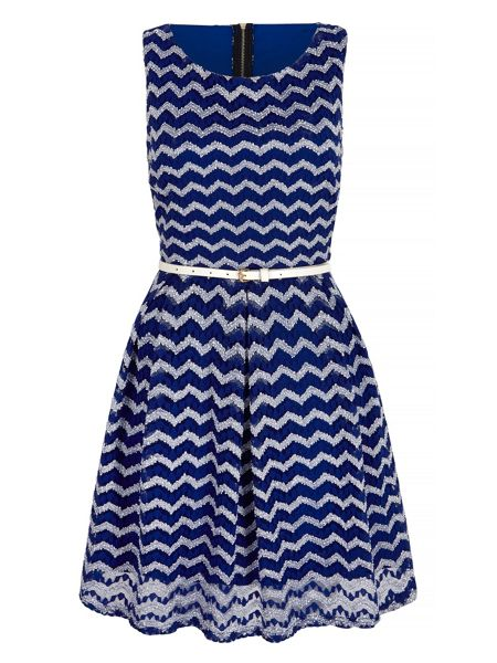 Mela London Zig Zag Lace Day Dress
