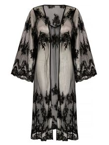 Mela Loves London Long Lace Kimono