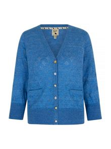 Yumi Pointelle Stitch Cardigan