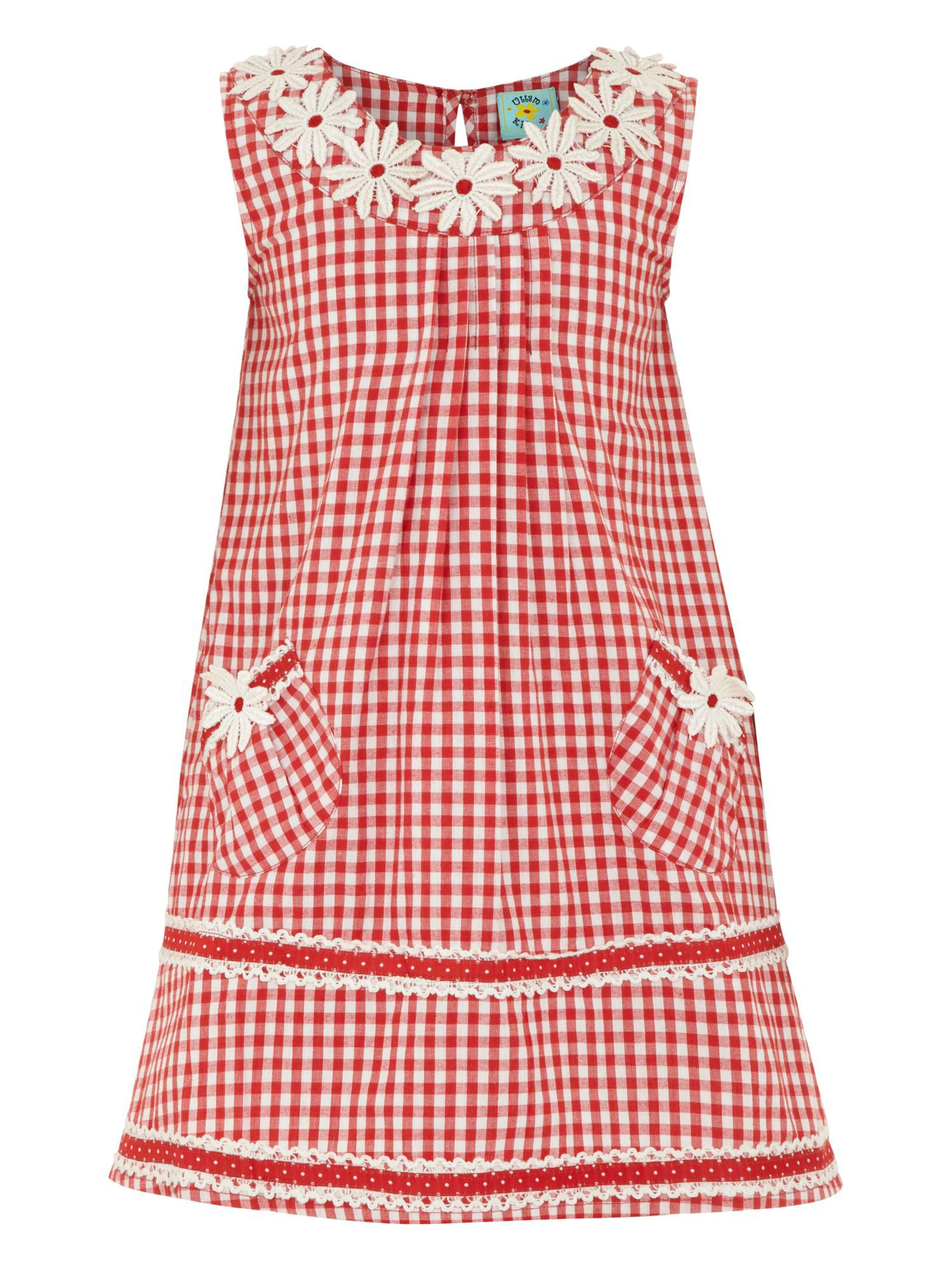 Girl`s gingham dress