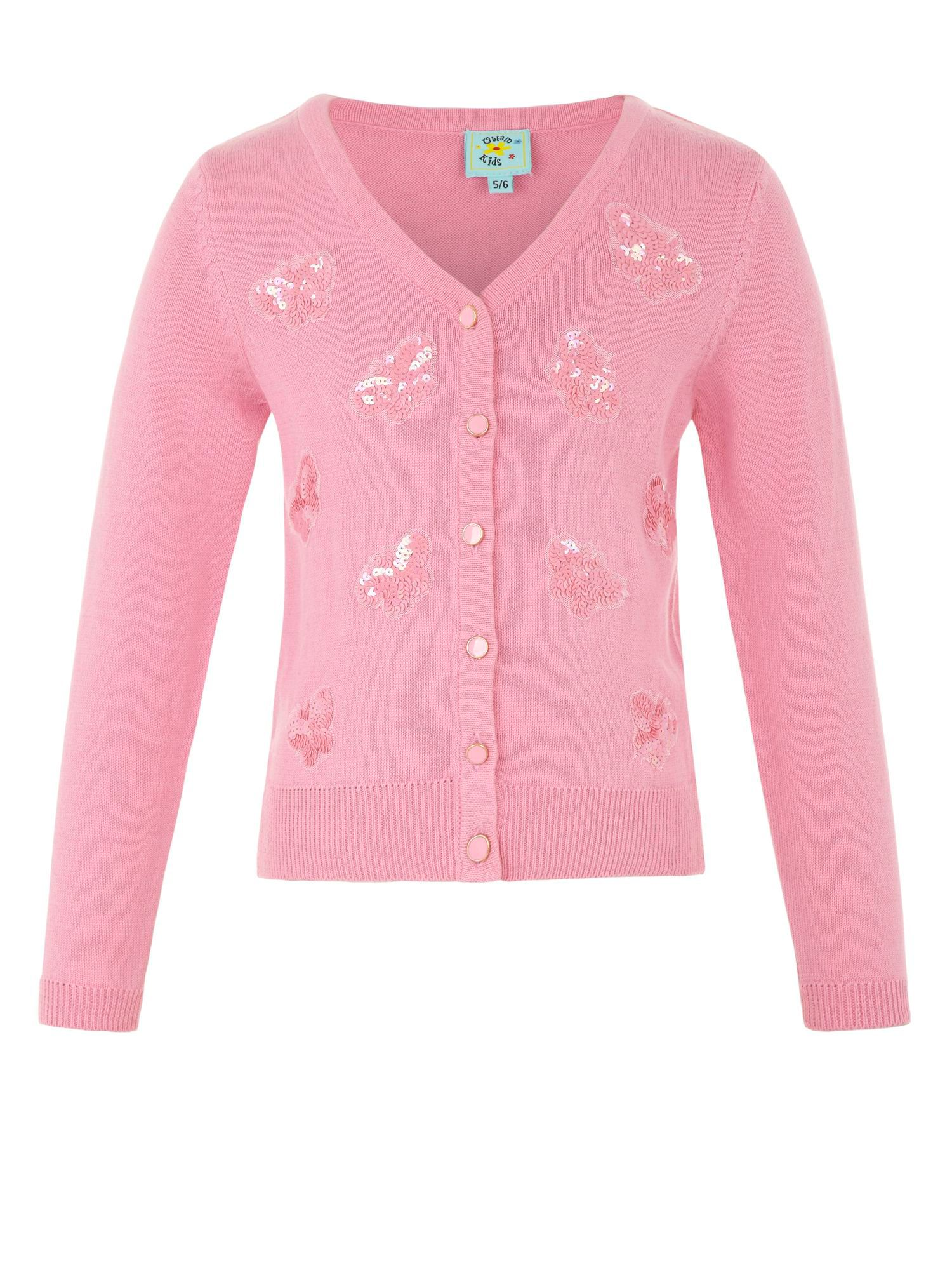 Girl`s sequin butterfly cardigan