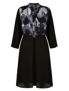 Mela London Grey Printed Shirt Dress