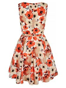 Mela Loves London Poppy Print Day Dress