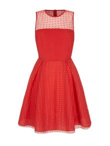 Yumi Embroidered Circle Skater Dress