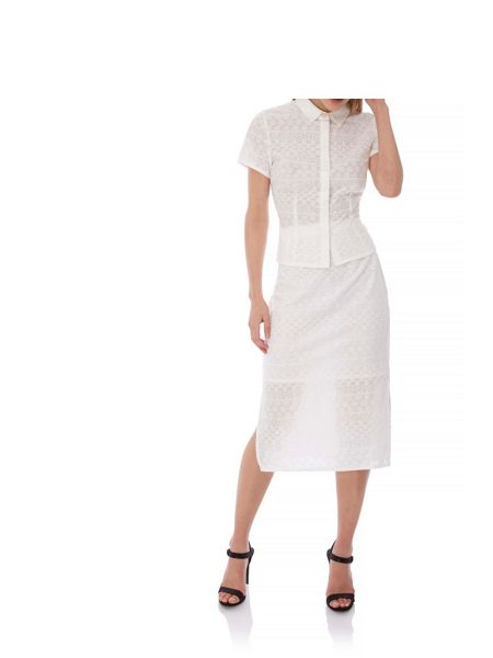 Yumi Broderie Anglaise Short Sleeve Shirt