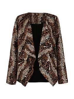 Leopard Print Waterfall Jacket