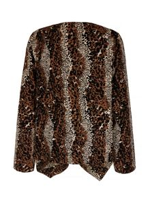 Mela Loves London Leopard Print Waterfall Jacket