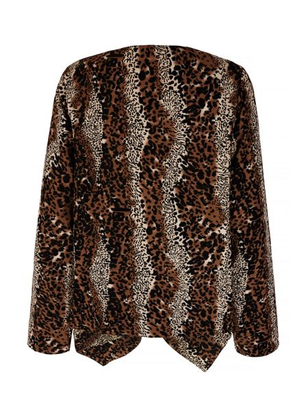 Mela London Leopard Print Waterfall Jacket