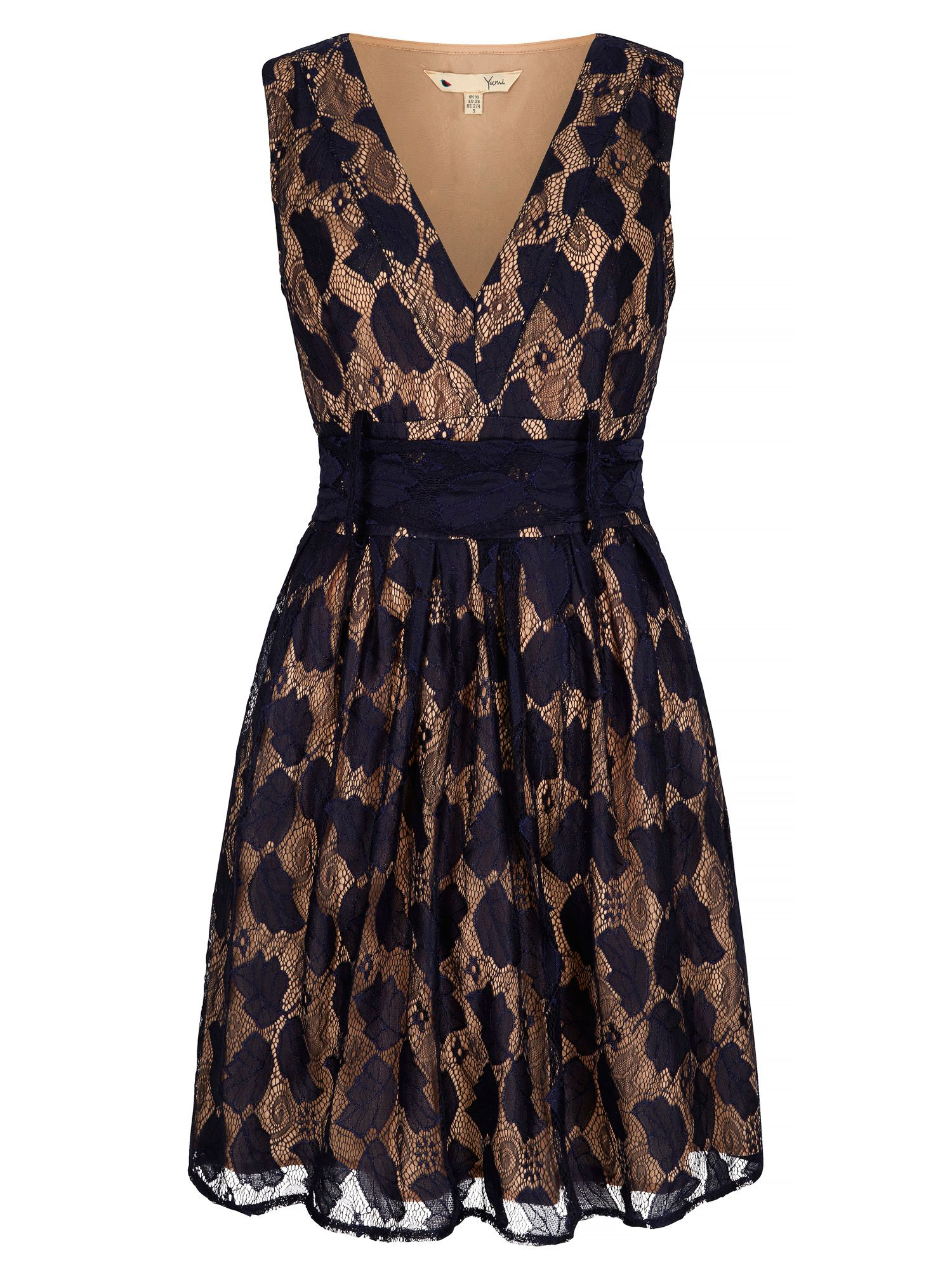 Yumi Vintage Lace Dress, Blue
