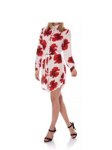 Yumi Poppy Print Shirt Dress