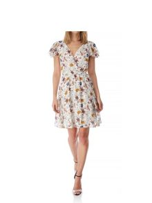 Yumi 70s Floral Print Tea Dress