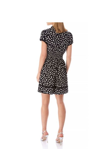 Yumi Daisy Print Tie Detail Day Dress