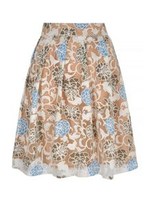 Mela Loves London Floral Burnout Midi Skirt