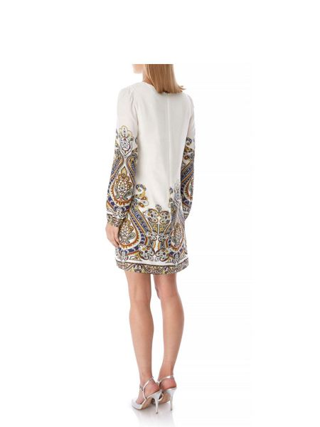 Yumi 70s Tapestry Print Tunic Dress
