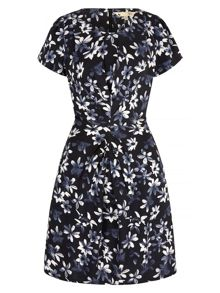 Yumi Monochrome Floral Print Day Dress
