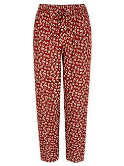 Ditsy Vintage Floral Print Trousers