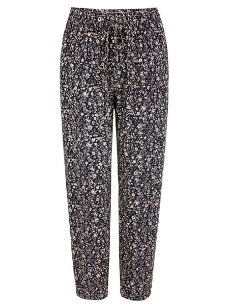 Yumi Ditsy Floral Print Trousers