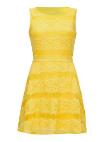 Mela London Yellow Lace Dress