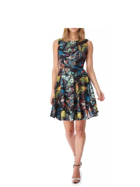 Yumi Woodland Bird Print Day Dress