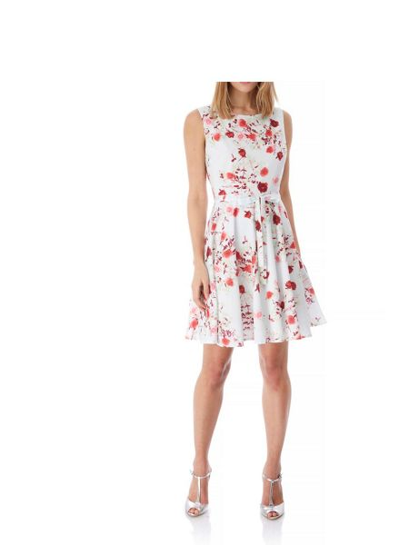 Yumi Rose Print Occasion Dress