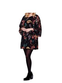 Yumi Curves Yumi Curves Cherry Blossom Print Smock Dress