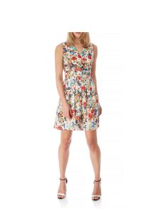 Yumi Antique Floral Print Wrap Dress