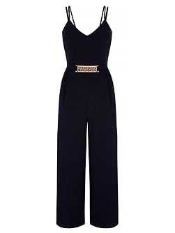 Strappy Structured Jumpsuit