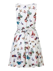 Mela London Multi Butterflies Skater Dress