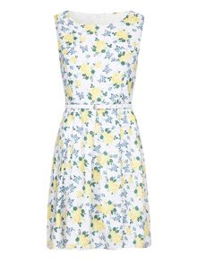 Mela London Lemon Florals Dress