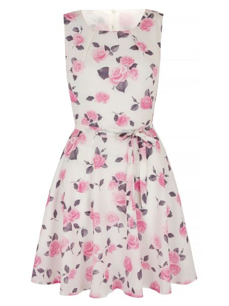 Mela London Antique Floral Print Day Dress
