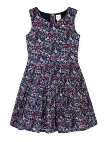 Yumi Girls Girls Prairie Floral Print Day Dress